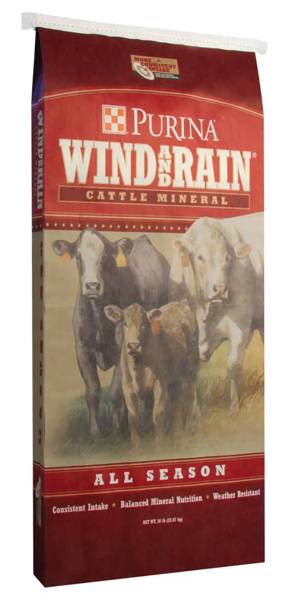 reiterman feed and supply purina wind and rain all season minerals cattle